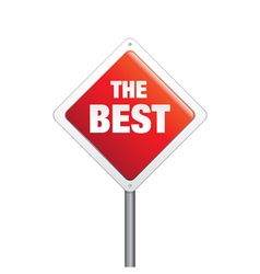 The Best Sign vector image