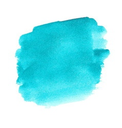 Turquoise watercolor spot vector