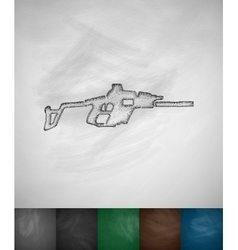 Automatic rifle icon vector