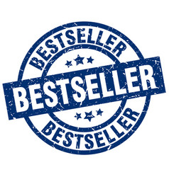 bestseller blue round grunge stamp vector image