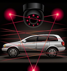 Car security vector image vector image