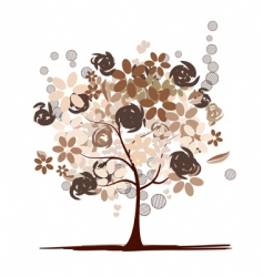 chocolate tree beautiful vector image vector image