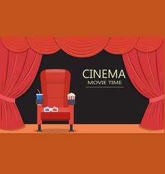 cinema seattheater seat vector image vector image