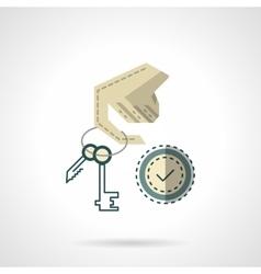 Duplication of keys flat color icon vector