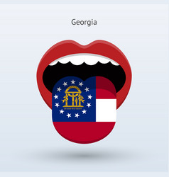 electoral vote of georgia abstract mouth vector image