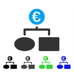 Euro flow chart flat icon vector