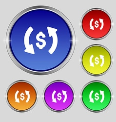 Exchange icon sign Round symbol on bright vector image