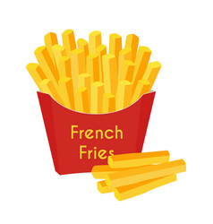 fast food french fries cartoon flat style vector image vector image