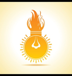 Fire bulb concept vector image
