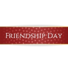 Friendship day red bend ribbon vector