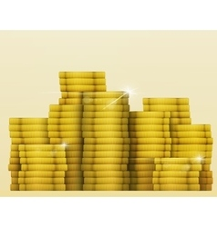 Gold shine coins treasure Lottery Jackpot vector image vector image