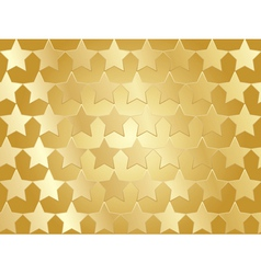 golden stars background vector image vector image