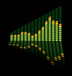graphic equalizer angle vector image