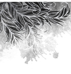 Grayscale watercolor painting design vector