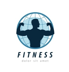 Gym logo design template fitness or sport vector