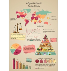 infographic elements nutrition vector image vector image