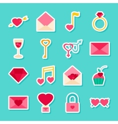 Love Valentines Day Stickers vector image