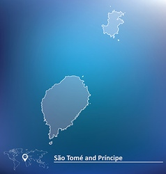 Map of sao tome and principe vector