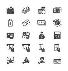 Money flat icons vector
