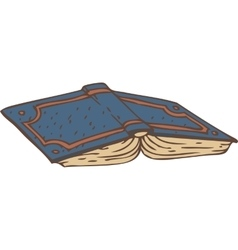 Open book with a blue cover vector