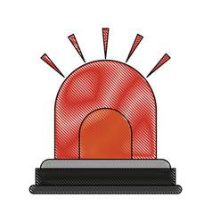 red light alarm vector image vector image