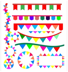Ribbon for party vector