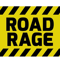 Road rage sign vector
