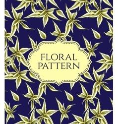 Seamless floral pattern Vintage background vector image vector image