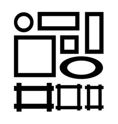Set of frame silhouettes vector