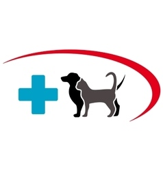 Veterinary symbol with animal pet vector