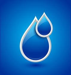 Water drops icon vector