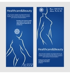 Woman silhouettes brochure flyer templates vector image vector image