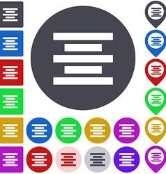 Centre Alignment Icon Set vector image