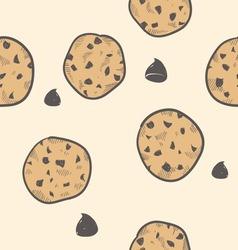 Doodle cookies seamless pattern vector