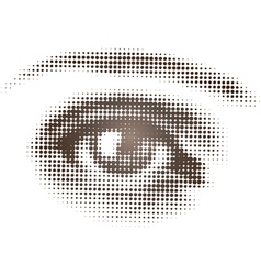 Halftone Brown Eye vector image