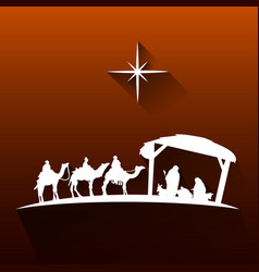 Colored manger vector