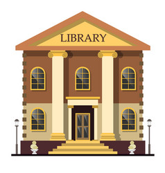 Library exterior outdoor view vector