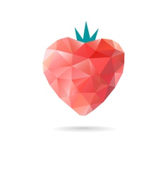 Red strawberries from triangles vector