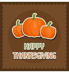 Happy thanksgiving day background design with vector
