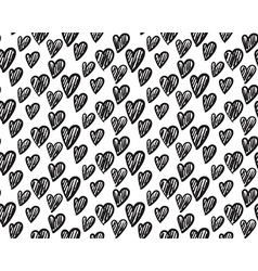 Seamless pattern with hand drawn hearts vector
