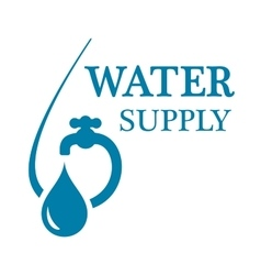 water supply concept icon vector image