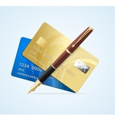 Card and pen business concept vector