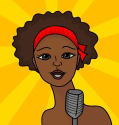 The singing woman vector image