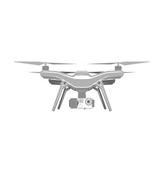 Drone quadrocopter aerial icon vector