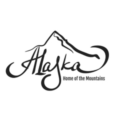 Alaska mountain design vector