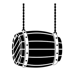 Black wooden barrel icon image design vector