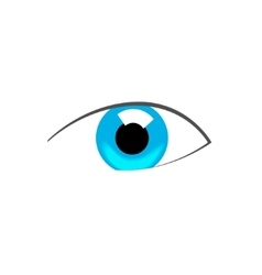 Blue eye abstract symbol vector image