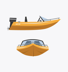 Cartoon speed boat vector