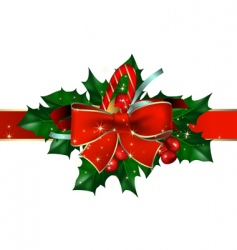 Christmas background with bow vector image vector image