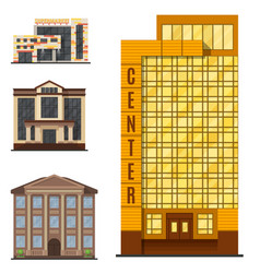 City buildings modern tower office architecture vector